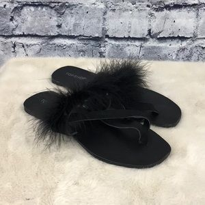 Topshop Square Toe Feather Sandals